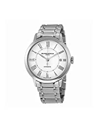 Baume and Mercier Classima Automatic White Sunray Dial Stainless Steel Ladies Watch MOA10220