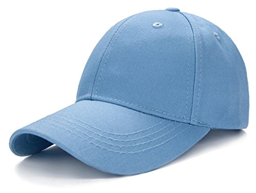 Edoneery Unisex Kids Plain Cotton Adjustable Low Profile Baseball Cap Hat(Blue)