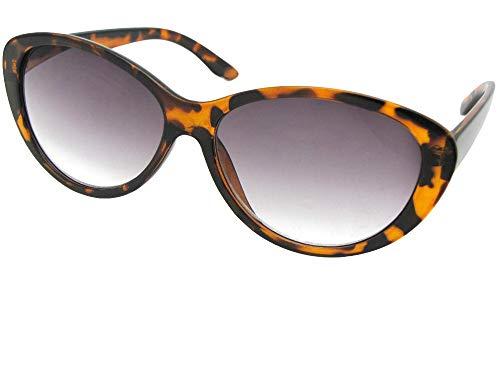 - Fashion Cat Eye Full Reading Lens Sunglasses For Women R99 (Tortoise Frame Gray Lenses, 3.00)