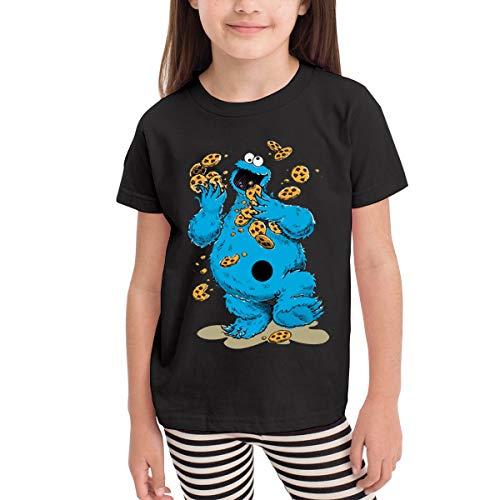 Kaddias Cookie Monster Crazy Cookies Infant Kids Funny Short Sleeve T-Shirt Black 3T