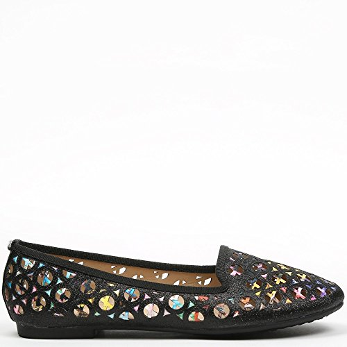 By Swan, Damen Slipper & Mokassins Schwarz