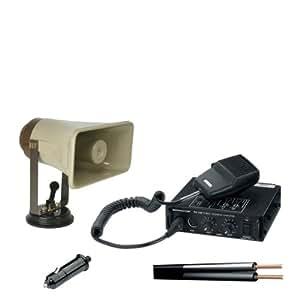 Kit de montaje en techo de vehículo con un altavoz y amplificador 12v