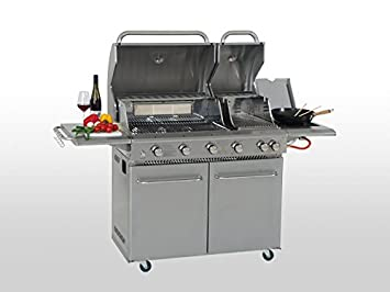 Mayer Gasgrill Zunda Test : Coobinox edelstahl gasgrill brenner double power amazon garten