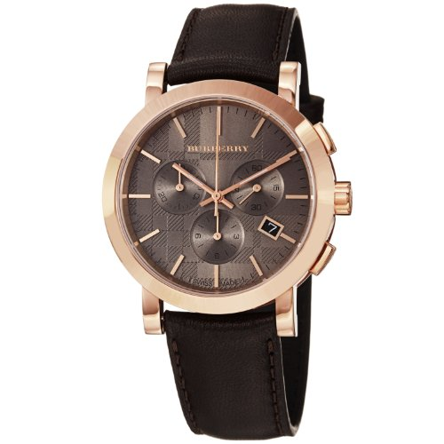 burberry men s bu1863 herringbone brown leather strap watch burberry men s bu1863 herringbone brown leather strap watch amazon co uk watches