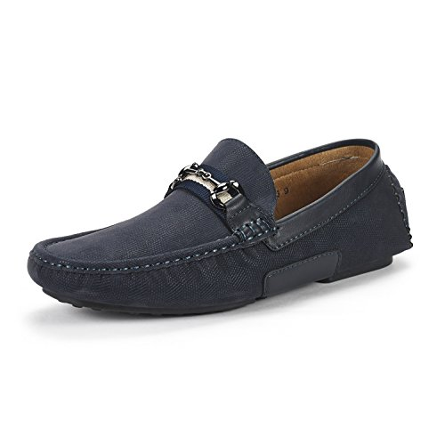 BRUNO MARC NEW YORK Men's Santoni-03 Navy Penny Loafers Moccasins Shoes Size 11 M US by BRUNO MARC NEW YORK