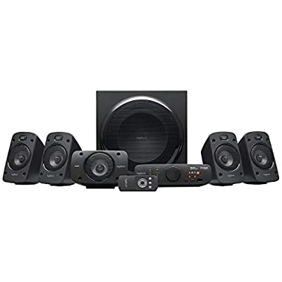 Logitech Z906 5 1 Surround Sound Speaker System  THX  Dolby DTS Certified  1000 Watts Peak Power  Multi -Device  Multiple Audio Inputs  Remote Control  PC PS4 Xbox Music Player TV Smartphone Tablet