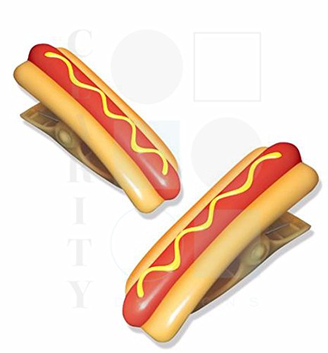 Beach towel 'Boca' Clips - 1 pair of HOT DOGS 02 Cool