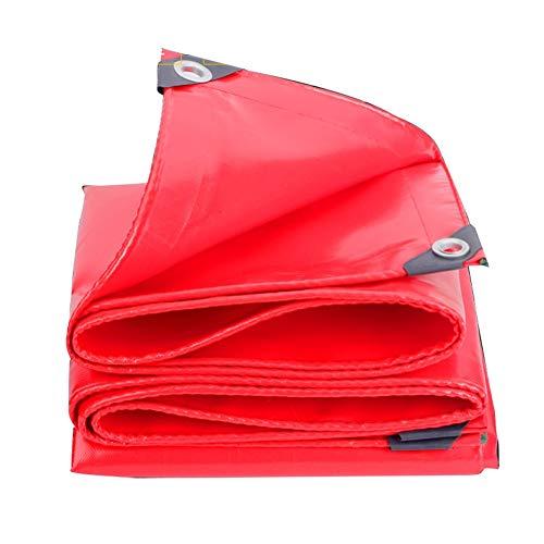 シャワー逃すバイオレットQIANGDA トラックシート荷台カバースーパー防水 PVC 断熱 引裂抵抗 車のカバー (600g / M2)の様々なサイズ (色 : Red, サイズ さいず : 2.8 x 2.8m)