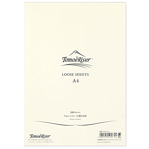 "Tomoe River FP Loose Sheet, 8.27 x 11.7"", 100 Sheets/Pack, Cream (TMR-A4P-Y)"