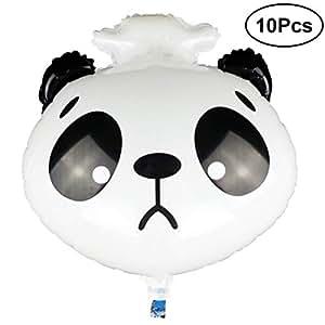 BESTOYARD 10 unids Cabeza Animal Globo Panda Triste Molde de Papel de Aluminio Globo para niños Suministros Fiesta de cumpleaños Juguetes: Amazon.es: Hogar