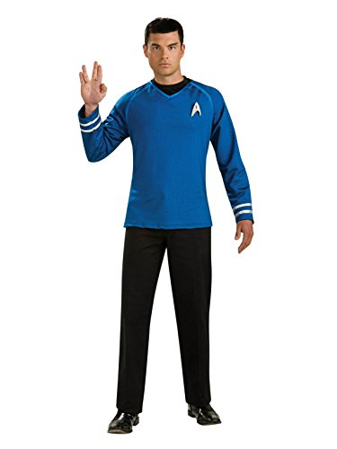 Rubie's Star Trek Into The Darkness Grand Heritage Spock Shirt with Emblem, Blue/Black, X-Large -