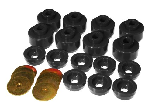 Prothane 7-141-BL Black Body and Cab Mount Bushing Kit - 16 Piece