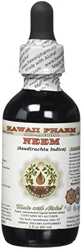 Neem Alcohol-Free Liquid Extract, Organic Neem Azadirachta Indica Dried Leaf Glycerite Natural Herbal Supplement, Hawaii Pharm, USA 2 fl.oz