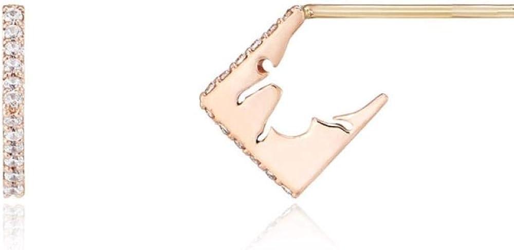 AAAA Aretes para mujer con aguja de plata 925 pendientes geométricos ins pendientes fríos pendientes geométricos
