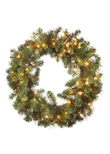 Pre-Lit Artificial Mixed Pine Christmas Wreath - 30