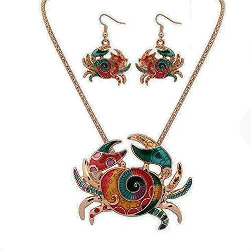 (MAOFAED Beach Necklace Earring Set (Crab NE))