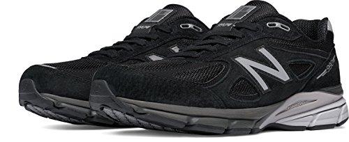 New Balance Men's M990BK4 Running Shoe, Black/Silver, 15 D US