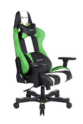 Clutch Chairz Crank Series Bravo Gaming Chair Green White