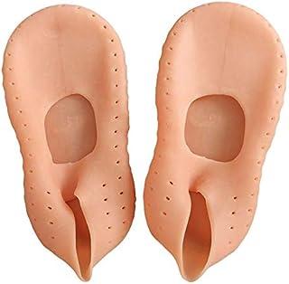 HATCHMATIC Mesure Hydratante Pied Sock Chaussettes Gel Protection Cracked Soins des Pieds pour Le Yoga Gym Orts 1 Paire:, S