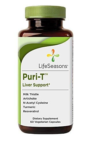 Puri-T - Liver Detox and Cleanse Supplement - Enhanced Stamina - Regenerate Liver Tissue - Aids in Healthy Bile Flow - Contains Artichoke, Turmeric, and Milk Thistle - LifeSeasons (60 Capsules)
