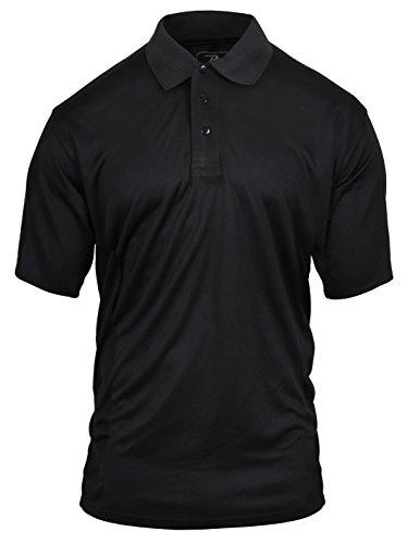 Rothco Moisture Wicking Polo Shirt, XL Black