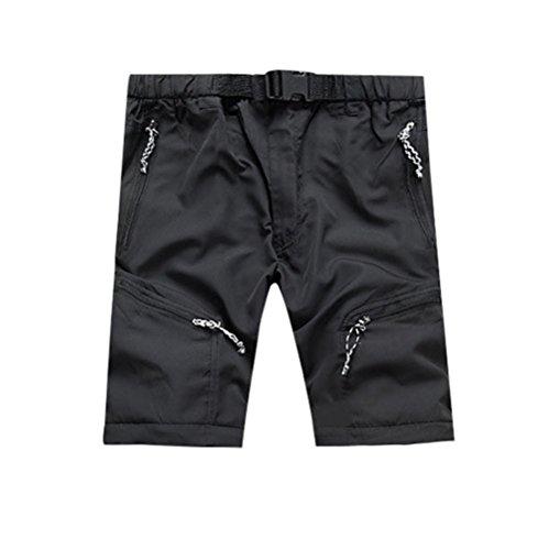 D'extérieur Noir Mince Séchage À Imperméable Pour Hommes Rapide Pantalon Détachable Fqtwqz