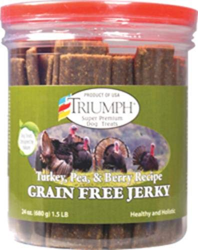 Triumph Dog Turkey Pea & Berry Grain Free Jerky 24-Ounce