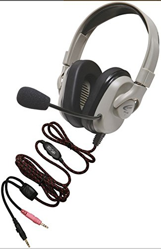 Califone HPK-1550 Titanium Series Headset with Guaranteed for Life Cord; First washable headset for easy cleaning; Softer, more comfortable ear cushions; Comfort strap for longer wearability by Califone