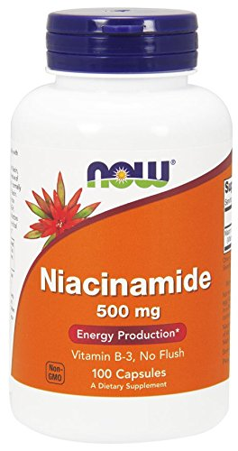Now Foods Niacinamide 500mg, Vitamin B-3 Capsules, 200-Count