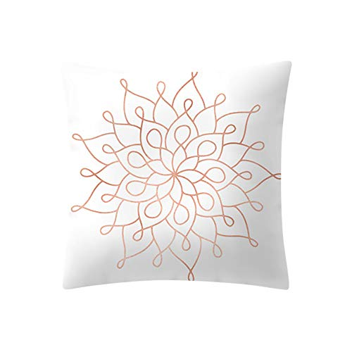 HHBack Rose Gold Pink Cushion Cover Square Pillowcase Home Decoration Microfiber Plain Color Protectors Four Seasons Throw Covers Pillow Case Shell Decorative Merry Christmas 45Cmx45Cm (B)