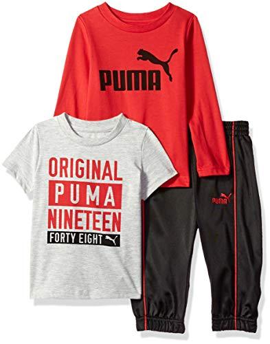 (PUMA Baby Boys' Tricot Pant Set, Ribbon red 18M)