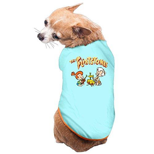 MEGGE The Flintstones Lovely Pet Dog Shirts SkyBlue L]()