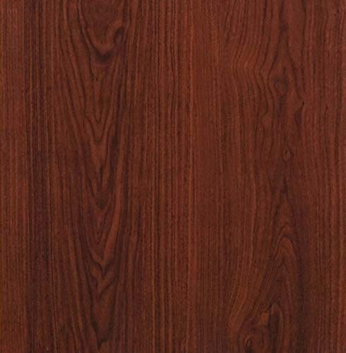 "(Red Brown Wood Peel and Stick Wallpaper Wood Grain Contact Paper Self Adhesive Film Removable Textured Wood Panel Decorative Wall Covering Faux Vinyl Shelf Drawer Liner Cabinet Countertop 78.7""x17.7"")"