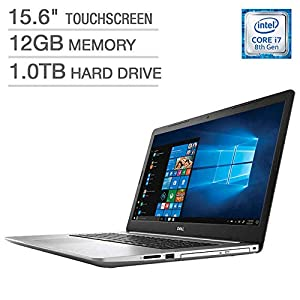 2019 Dell Inspiron 15 5000 5570 Intel Core i7-8550U 12 GB DDR4 1TB HDD 15.6″ Full HD Touchscreen LED Silver Laptop
