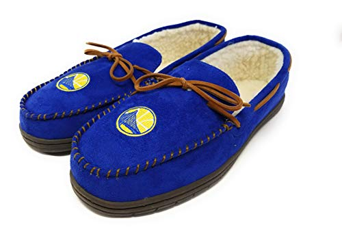 Forever Collectibles NBA Team Color Logo Moccasin (Golden State Warriors, XL (13-14))