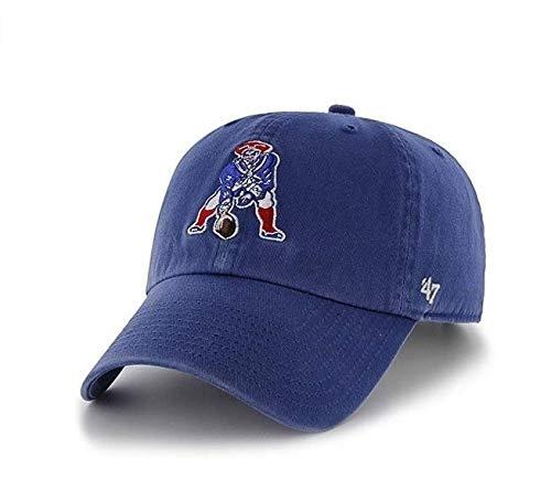 47 Brand. New England Patriots Clean Up Cap - Throwback Logo - Royal Blue