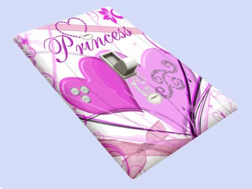 Swirl Switchplate - Princess Swirls Switchplate - Switch Plate Cover