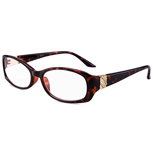 (EYEGUARD Readers Crystal Design High Quality Fashion Women Reading Glasses)