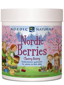 Nordic Naturals Cherry Multivitamin Gummy - Chewable Vitamin for Children and Adults Provides Essential Vitamins and Nutrients for Immune System, Bone Health, Development & Overall Health, 120 Count