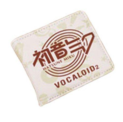 new Cuero Piel Cartera Multi-bolsillos Cartera hombre Purse Logo Vocaloid rare