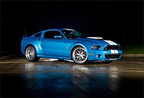 Innerwallz Ford 2013 GT500 Cobra Mustang Blue Side Wall Art, Pop Art, Poster, Art Prints   Rare Posters