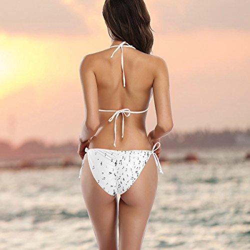Conjunto Multicolor Traje bikini de mujer de ba de dos o de musicales Notas piezas Alaza Clefs rgFxfw