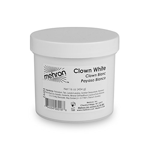 Mehron Makeup Clown White (Halloween Party 2017)