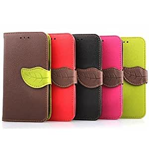 HJZ 4.5 Inch Leaf Pattern PU Wallet Leather Case for Samsung Galaxy Core 2 G3558/G3559(Assorted Colors) , Green