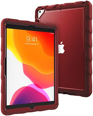 GumDrop DropTech Case Designed for Apple iPad 10.2 7th Gen (2019) Tablet for Business and Office Essentials - Rugged Shock Absorbing Extreme Drop Protection Slim and Snug Fit (Red)