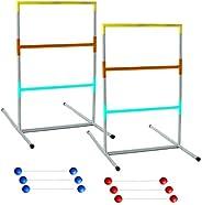 Franklin Sports 53102 Professional Ladder Ball Set – Steel Construction – Ladder Golf – Outdoor Lawn Games – B