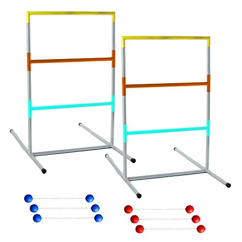 Franklin Sports Professional Ladder Ball Set - Steel Construction - Ladder Golf - Outdoor Lawn Games - Beach Games (Construction Golf Ball)