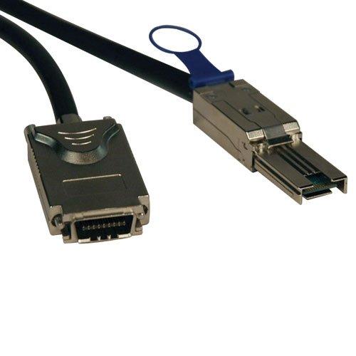 Tripp Lite External SAS Cable, 4 Lane - mini-SAS (SFF-8088) to 4xInfiniband (SFF-8470) 3M (10-ft.)(S520-03M) by Tripp Lite