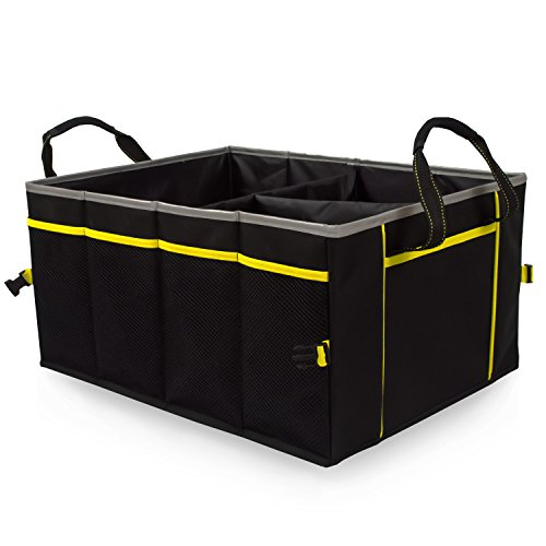 - Amoybay Car Trunk Storage Organizer with Reflective Edging