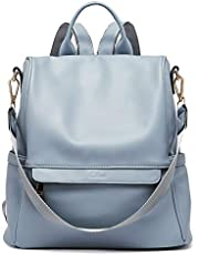 Back to School Damen Rucksack Handtaschen 3 Möglichkeiten PU Leder Frauen Reiserucksack Schulrucksack Anti-Diebstahl Schultertasche Muttertagsgeschenk